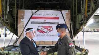 بينها 140 طن أغذية.. تفاصيل المساعدات المصرية إلى لبنان