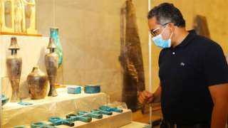 """""""العناني"""" يتفقد المتحف القومي للحضارة المصرية بالفسطاط"""
