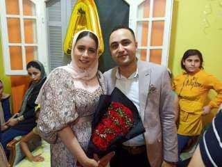 """""""الميدان"""" تهنىء أحمد مجدى السعداوى وآلاء عبد الحميد بالخطوبة السعيدة"""
