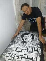شيف المشاهير يرسم صورة الفنان محمود ياسين تخليد لذكراه