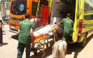 إصابة 23 شخصًا في تصادم ميكروباص بسيارة نقل ببني سويف