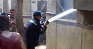 بالصور .. إخلاء المنبى من التلاميذ دون اصابات .. السيطرة على حريق معهد صقر قريش الأزهرى