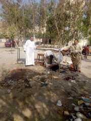 رئيس حي البساتين يحتفل مع دور الأيتام بالمولد النبوي.. ويوقف أعمال بناء مخالف