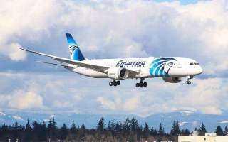 """اليوم .. """" مصر للطیران"""" تسير 59 رحلة جوية لنقل 7413 راكبًا وأهم الوجهات نيويورك ولندن"""