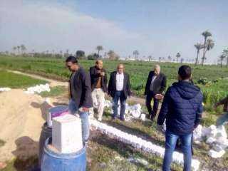 حفاظاً على الرقعه الزراعية بالشرقية : تنفيذ إزالة لـ ٣ حالات تعدي بمركزى بلبيس وديرب نجم (صور)
