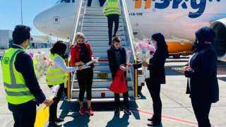 أولى رحلات شركة Hi Sky من مولدوفيا لمطار الغردقة الدولى