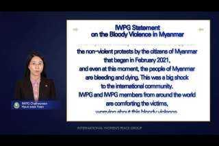 """منظمة IWPG العالمية تدعو إلى """"حل سلمي"""" لأزمة ميانمار"""