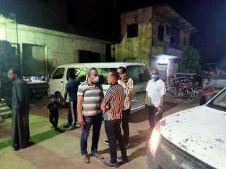 مصادرة 28 شيشة و67 كرسي و50 محضر كسر حظر وعدم ارتداء كمامة في حملة اشغالات بالصف جنوب الجيزة