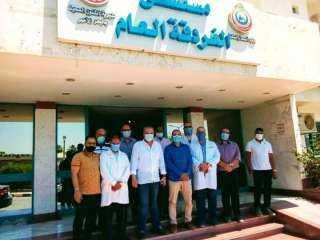 وكيل وزارة الصحة يهنئ المرضي والعاملين بمستشفي عام وحميات الغردقة بعيد الفطر