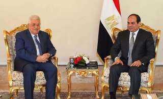 عباس: مصر هي السند القوي والمدافع لفلسطين