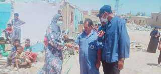 رئيس رأس غارب : اخلاء وازالة المنازل بالمنطقة داهمة الخطورة ونقل وتسكين المتضررين