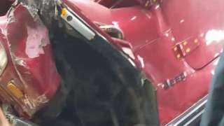 تفاصيل حادث سقوط سيارة من أعلى محور صفط اللبن